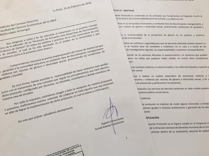 """""""Protocolo de Actuación ante situaciones de discriminacion y/o violencia de género"""""""