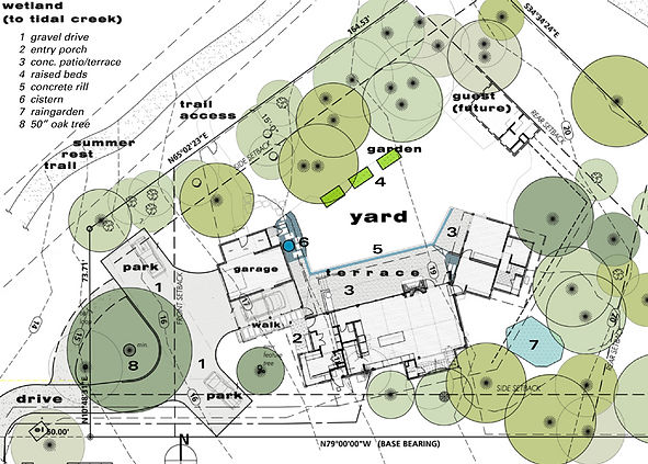 modern house site plan