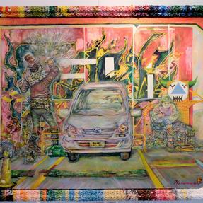 「ふらり、ふたり。~路上の絵描き~」