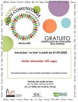 Fiocruz oferece 120 vagas em curso gratuito de saúde comunitária
