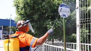 Favelas recebem operação de sanitização para combater coronavírus