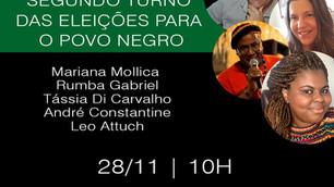 TV Portal Favelas: Debate discute segundo turno para o povo negro, neste sábado às 10h
