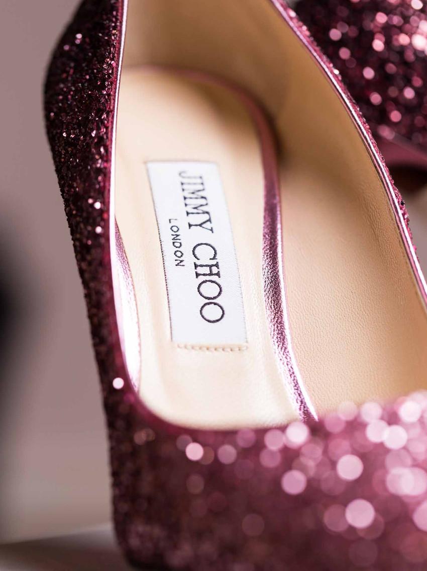 designer Jimmy Choo red shoes
