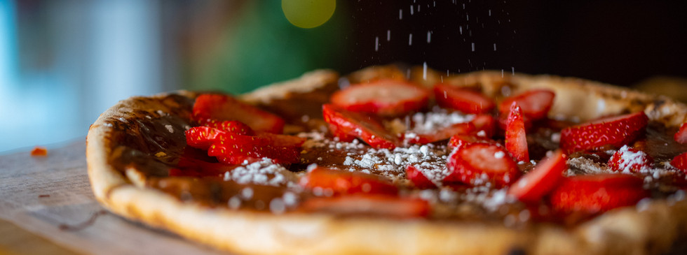 Johanssons Chocolate Pizza with Powdered Sugar