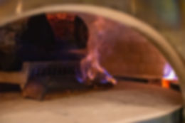 Wood reaching kindling temperature Johannsons wood-fired pizza oven
