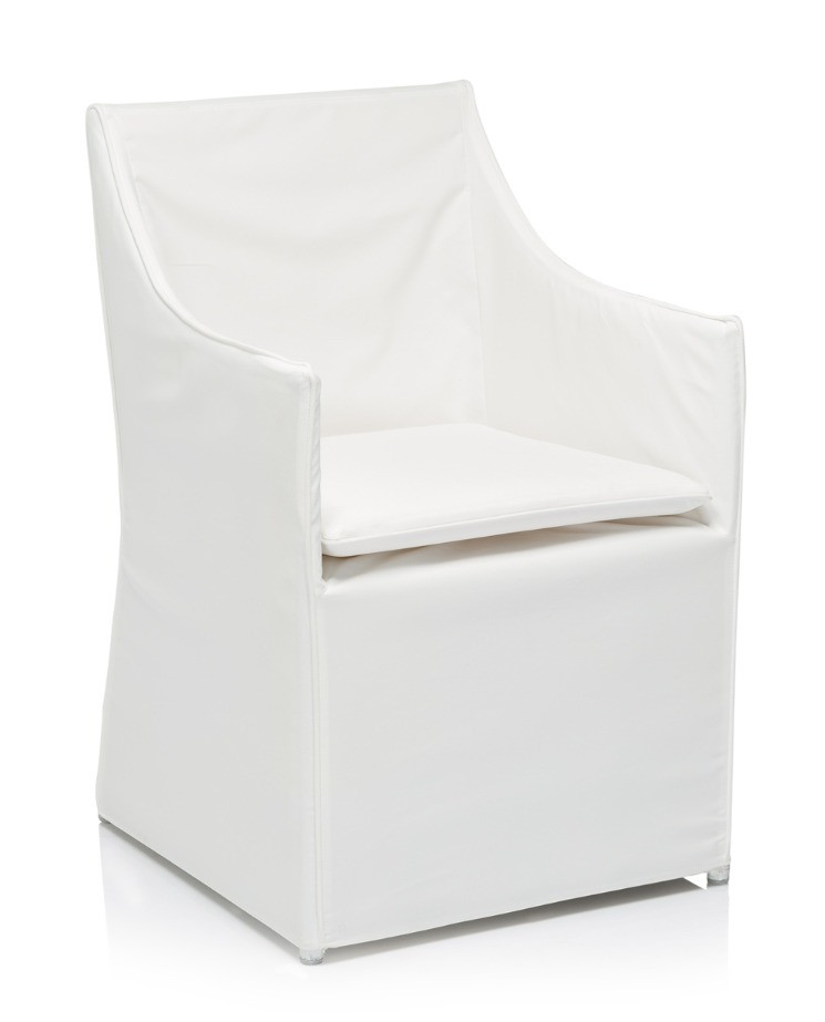 LYNDY OUTDOOR SLIPCOVERED DINING CHAIR