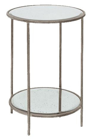 ROSS ROUND END TABLE SILVER
