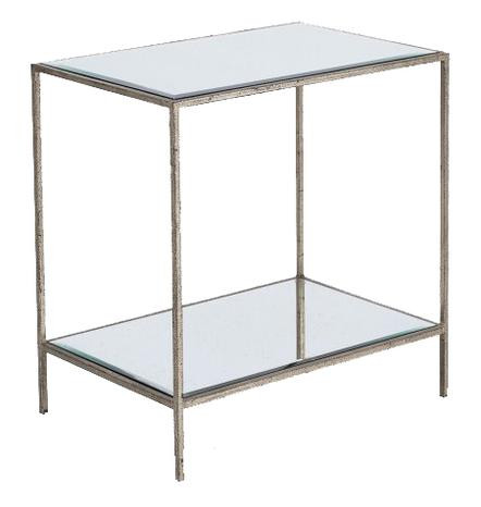 ROSS RECTANGULAR END TABLE SILVER