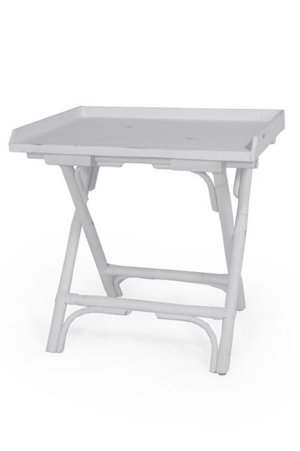 MOUNTAK END TABLE RUSTIC WHITE