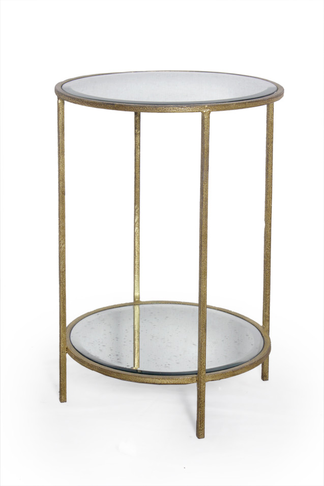ROSS ROUND SIDE TABLE GOLD