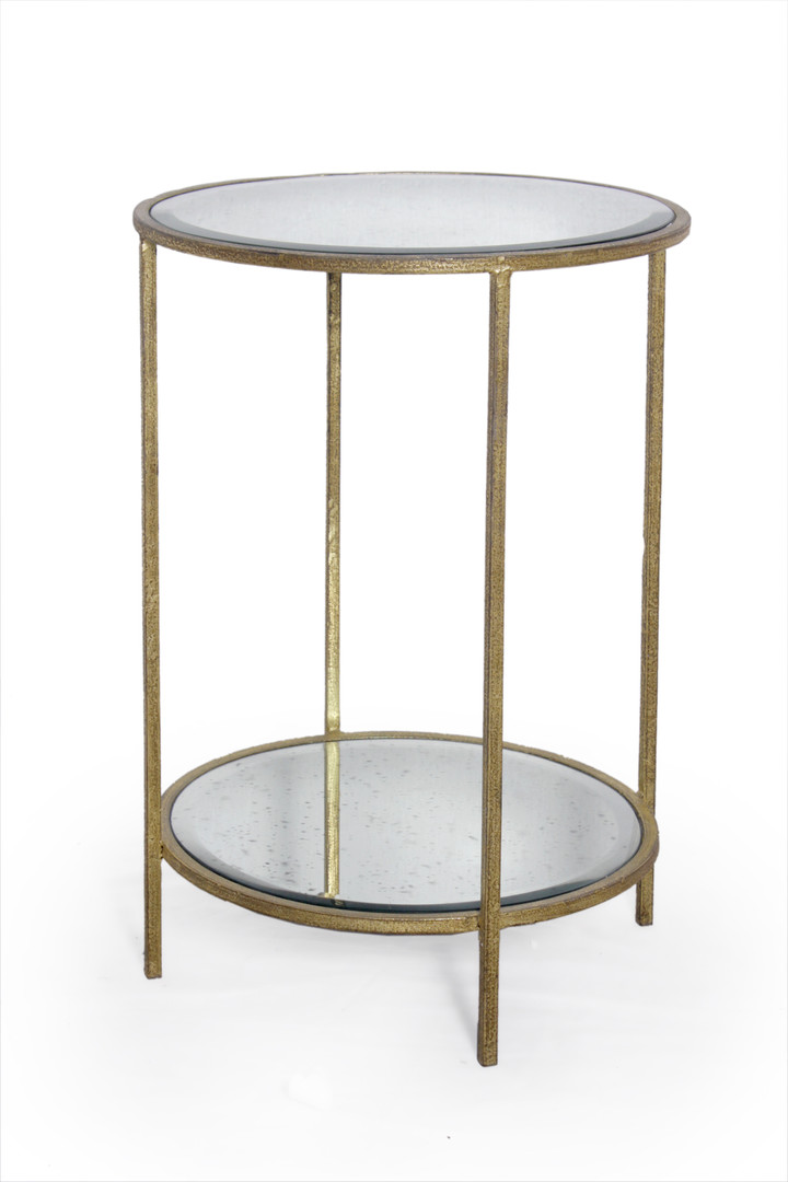 ROSS ROUND END TABLE GOLD