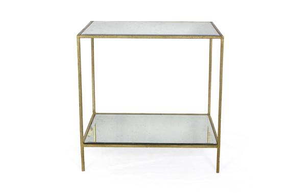 ROSS RECTANGULAR END TABLE GOLD