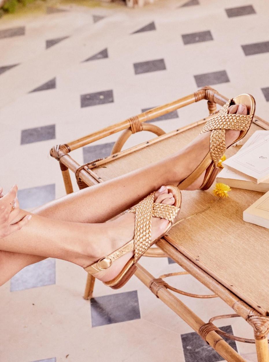 Sandales low Martin gold #sezane