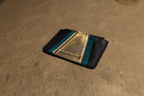 Porte monnaie Vavin noir/vert