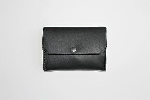 Porte monnaie noir sellier