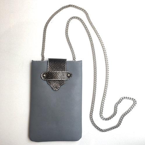 Pochette à portable grise