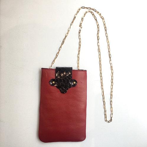 Pochette à portable rouge