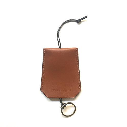Porte-clés camel sellier