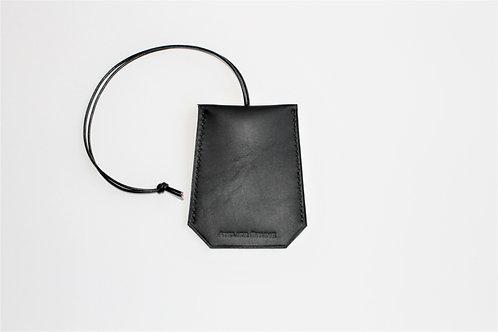Porte-clés noir sellier