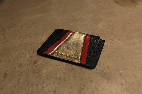 Porte monnaie Vavin noir/rouge