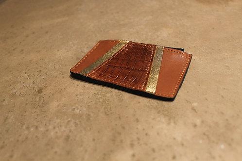 Porte monnaie Vavin camel/croco