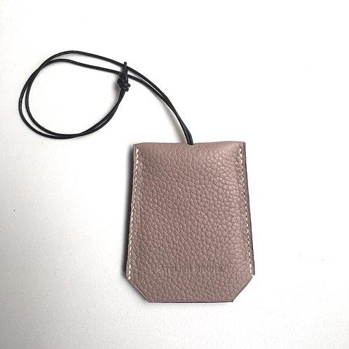 Porte-clés beige rosé