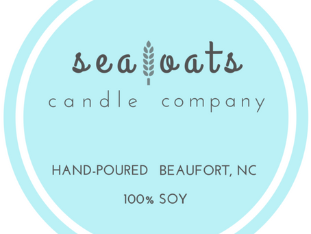 Meet our new vendor:                          Sea Oats Candle Company!