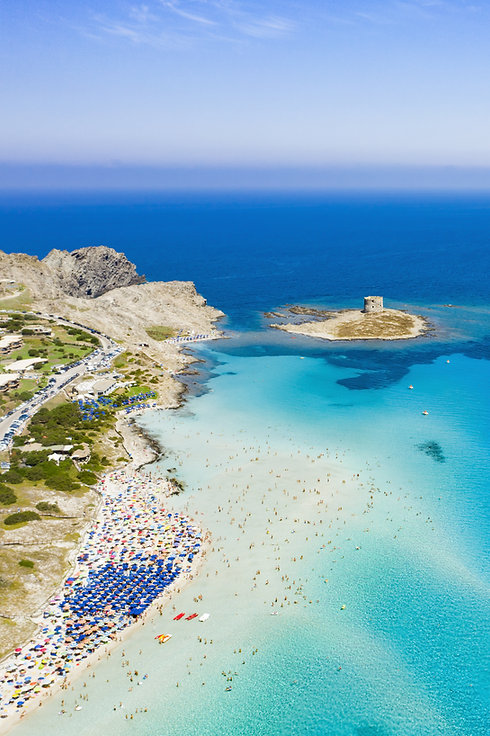 Stunning aerial view of the Spiaggia Del
