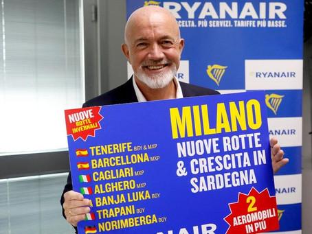 Ryanair en passe d'établir une base à l'aéroport d'Olbia