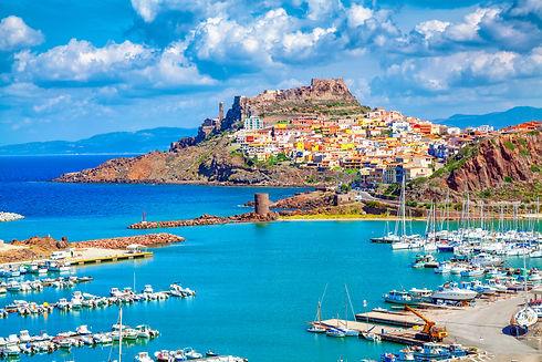 Castelsardo town and port in Sardinia, P