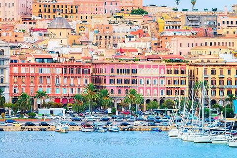 Cityscape with marina in the Mediterrani