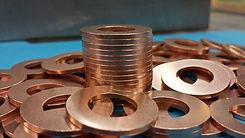 Round copper washers