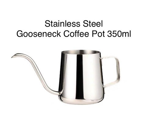 Stainless Steel Gooseneck / Long Spout Drip Pour Over Coffee Pot ~ 350ml