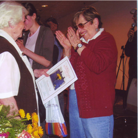 Faigie with Righteous Among the Nation Honoree Czeslawa Zak