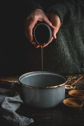 maple chipotle pecans - maple syrup pour