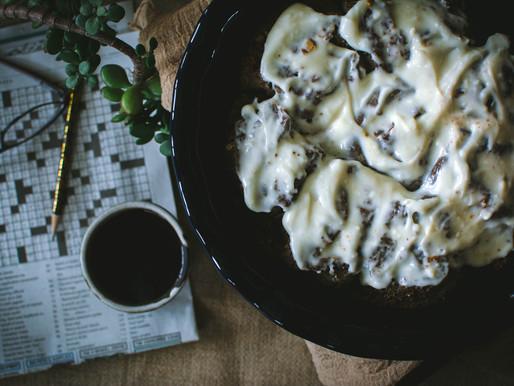 february (and buckwheat buttermilk cinnamon rolls)