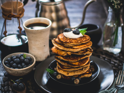 still (and oat & almond pancakes)
