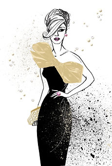 Fashion illustration, Eleanor Hancock illustration