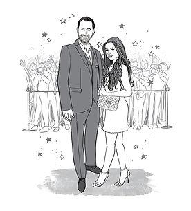 Danny & Dani Dyer, Eleanor Hancock illustration