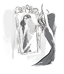 Dani Dyer in the mirror