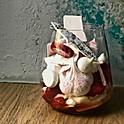 Pavlova cu căpșuni, cremă de brânză și apă de flori de portocal, 150 g