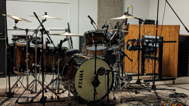 Drum recording in the live room