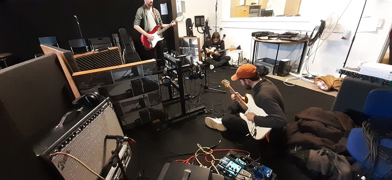Live recording in the live room