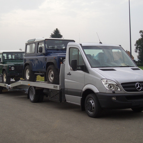 Voll ALU Durchlade-Autotransportfahrzeug