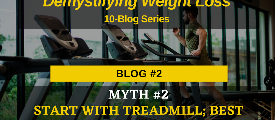 Demystifying Weight Loss: Myth #2-Start with treadmill; best option to lose weight