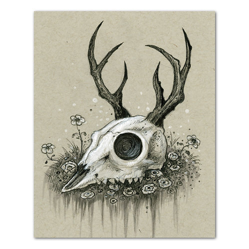 "The Offering - Skull Art 8"" x 10"" Art Print"