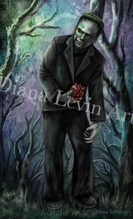 """Frankenstein's Monster 11"""" x 17"""" Art Print"""