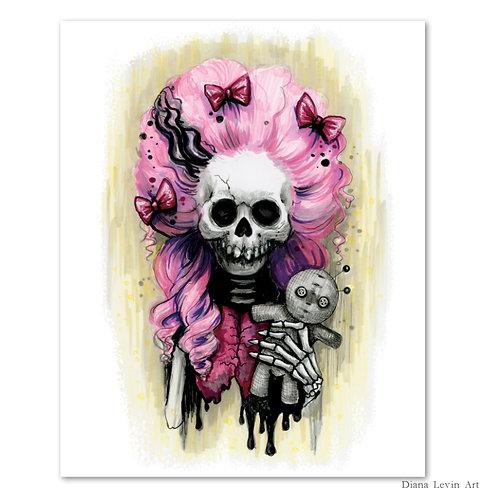 "Marie Skully- 8"" x 10"" Art Print"