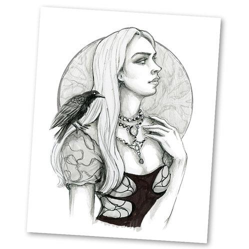"""Abigail """"8"""" x 10"""" Art Print"""