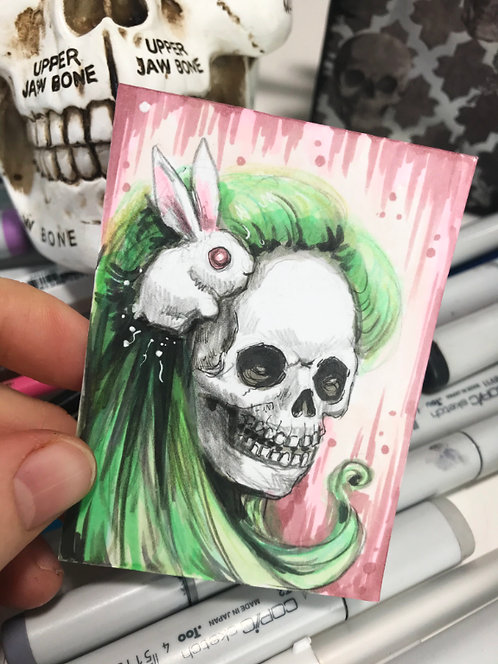 Green Witch Original Sketchcard